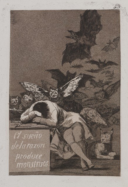 , 'The Sleep of Reason Produces Monsters (El sueño de la razón produce monstruos),' 1797-1798, Brooklyn Museum