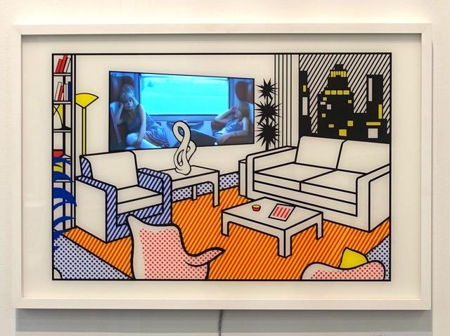 , 'Interior with Video Art,' 2015, Galerie von Braunbehrens