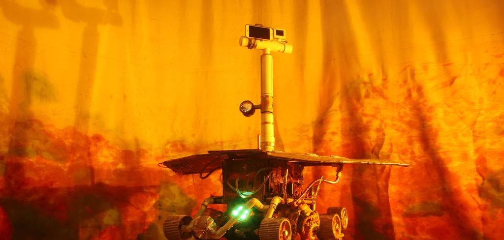"Installation shot of ""Impression"" Rover in Mare Tenebrarum"