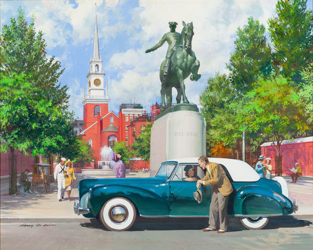 Harry Anderson, 'Paul Revere, 1941 Lincoln Continental', The Illustrated Gallery