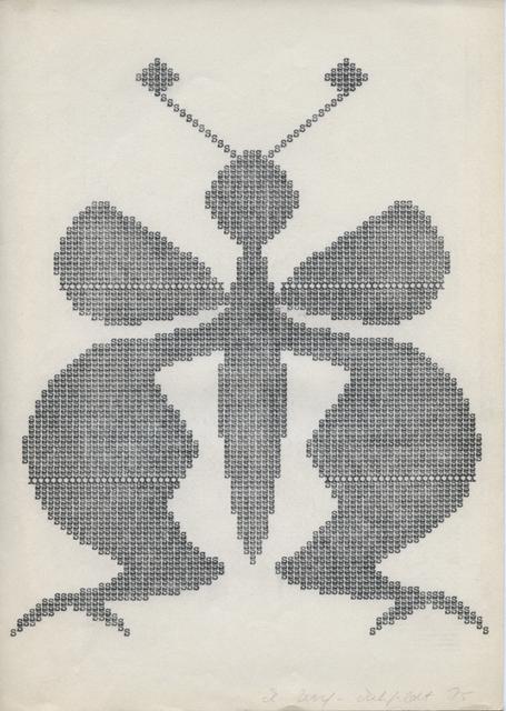 , 'Fischschwanzschmetterling,' ca. 1976, ChertLüdde
