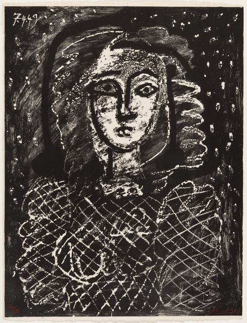 Pablo Picasso, 'Bust on a Starry Background', 1949, Christopher-Clark Fine Art