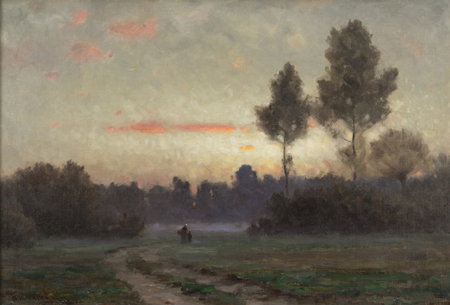 , 'Twilight at Auvers,' 1878, Montclair Art Museum