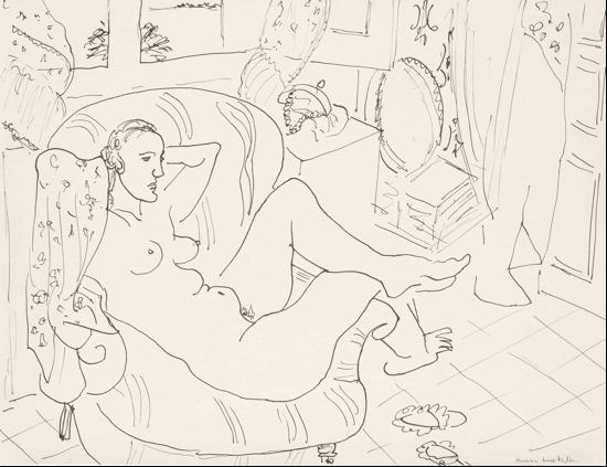 , 'Femme nue dans un intérieur,' ca. 1925, Bernard Jacobson Gallery