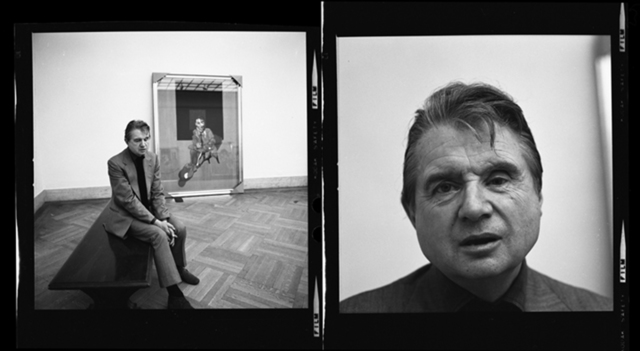 Harry Benson, 'Francis Bacon at the Metropolitan Museum of Art (Diptych), New York', 1975, Staley-Wise Gallery