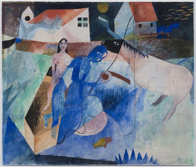, 'Der Blaue Angler,' 1919, DICKINSON
