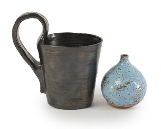 (i)Cabinet vase (ii)Handled mug