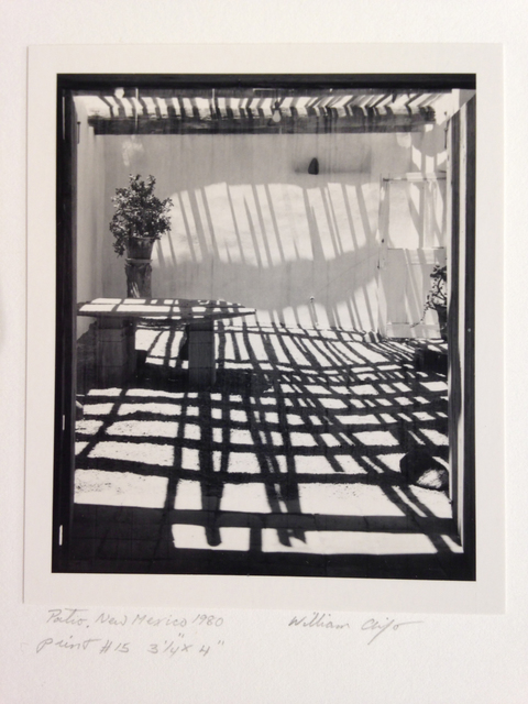 ", 'Patio, New Mexico 1980"" print #15 (Georgia O'Keeffe's patio),' 1980, Scott Nichols Gallery"