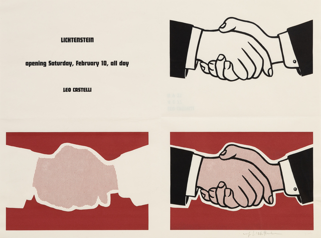 Roy Lichtenstein, 'Castelli Handshake Poster', 1962, Hindman