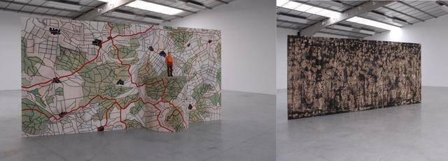 , 'Grosser Paravent - Menschenmassen und Landschaft,' 2010, Deweer Gallery