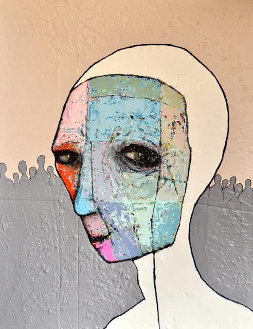 , 'Tout ces masques pour fondre dans la masse...,' 2018, Thompson Landry Gallery