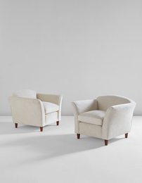 Unique pair of armchairs, designed for Casa Ferruccio Asta, Milan