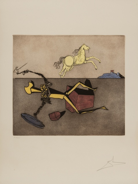 Salvador Dalí, 'Aspiration (M & L 947d; Field 80-1H)', 1981, Print, Etching with aquatint printed in colours, Forum Auctions