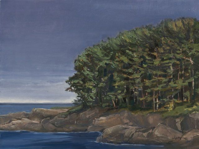 , 'Before the Rain At Bailey Island ~ Casco Bay, Harpswell, ME,' 2018, The Guild of Boston Artists