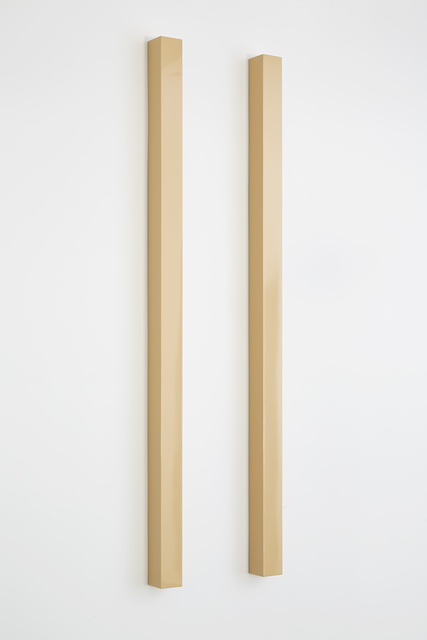 , '_YELLOW_-PINK TWO PARALLEL POLES,' 1966, Michael Werner Gallery