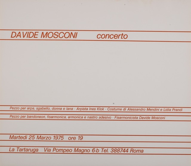 Davide Mosconi, 'Concerto', 1975, Finarte