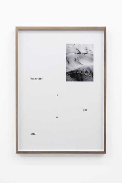 , 'Camino Por Desierto (Hasta ahí y allí o allá),' 2018, PROYECTOSMONCLOVA
