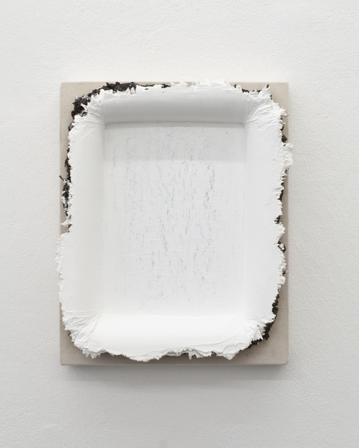 Andrew Dadson, 'White Restretch with Bark Mulch (East Vancouver)', 2018, Galerie Mehdi Chouakri