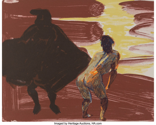 Eric Fischl, 'Annie, Gwen, Lily, Pam and Tulip (shadow with woman', 1986, Heritage Auctions