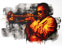 Mr. Brainwash, Miles Davis Red/Yellow