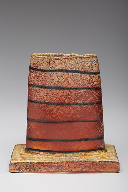 , 'Oval vase form, natural ash glaze with kaolin flashing slip,' , Pucker Gallery