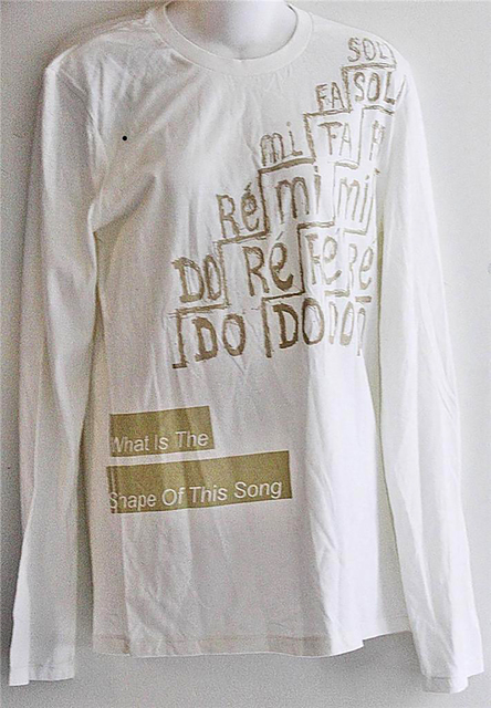 , 'What is the Shape of this Song, Limited Edition Shirt,' 2013, Alpha 137 Gallery