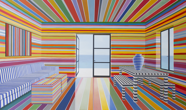 , 'Rainbow Striped Room,' 2017, Berggruen Gallery