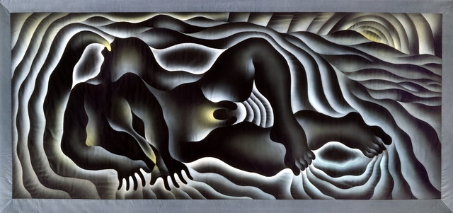 , 'Earth Birth, from the Birth Project,' 1983, Penn State: Judy Chicago Art Education Collection