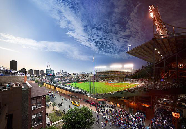 ", 'Wrigley Field 2013 Chicago,Ill  ""Day to Night"" Series,' 2013, Tulla Booth Gallery"