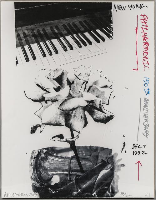 Robert Rauschenberg, 'New York Philharmonic 150th Anniversary, Dec. 7 1992', 1991, Skinner