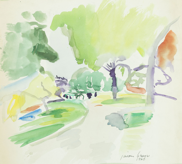 , '[Garden Path, Boston Public Garden],' 1960, Childs Gallery