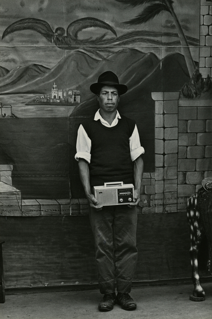 , 'Portrait of man with radio, San Marcos,' ca. 1970, Deborah Bell Photographs