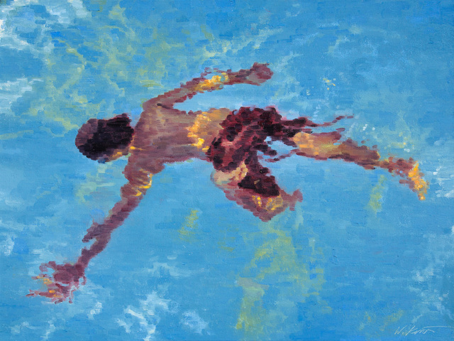 , 'Boy Swimming in the Pool at a Hotel in San Antonio,' 2016, ViVO Contemporary