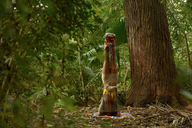 , 'Head Standing Totem,' 2014, Tanja Wagner Galerie