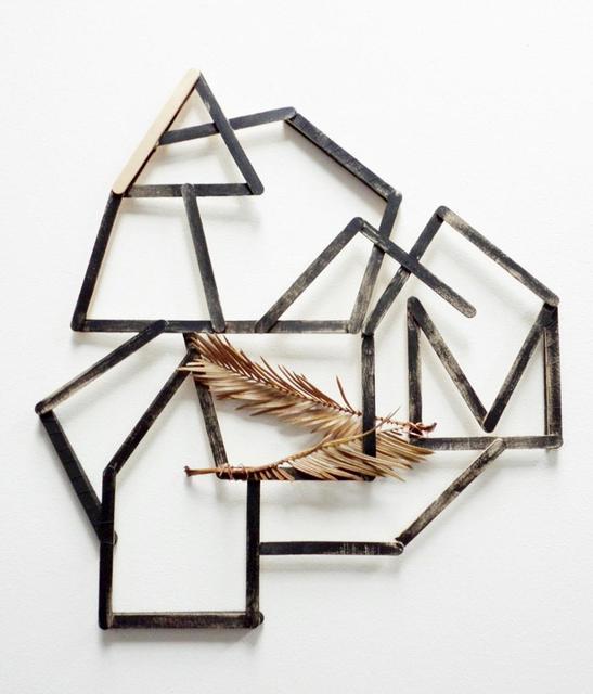 Alice Gonglewski, 'Nest', Mixed Media, Popsicle sticks, acrylic paint, dried plant fronds, InLiquid