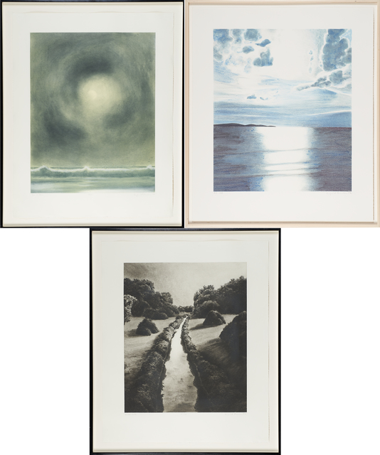 April Gornik, 'Sea Light (aka Paris Review), Sun and Storm, Water Path', Print, Lithograph in colors and two etchings with aquatint, Rago/Wright