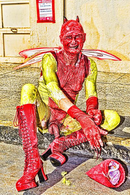 Mitchell Funk, 'Red Devil. Folsom Street Fair.   BDSM  Leather Event #7', 2015, Robert Funk Fine Art
