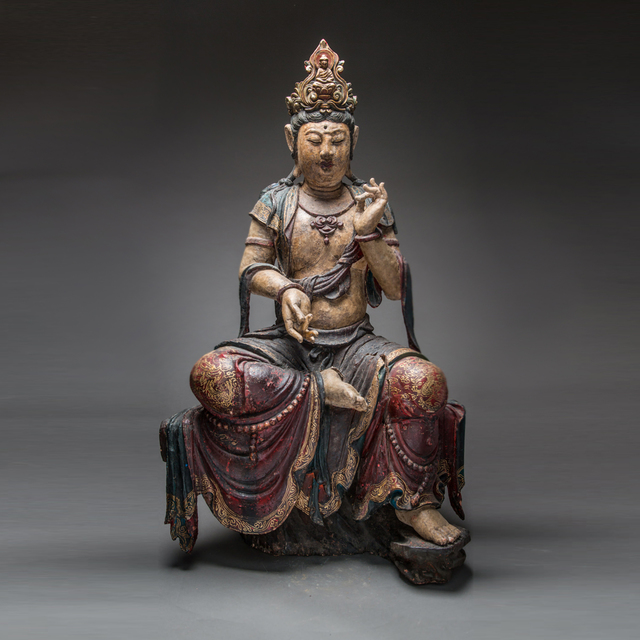 Unknown Chinese, 'Ming Dynasty Wooden Polychromed Guanyin', 1368-1644, Barakat Gallery