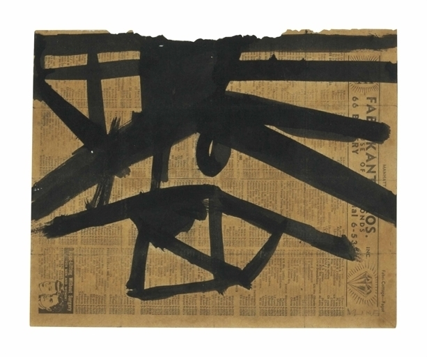 Franz Kline, 'Ink Study for High Street ', Christie's