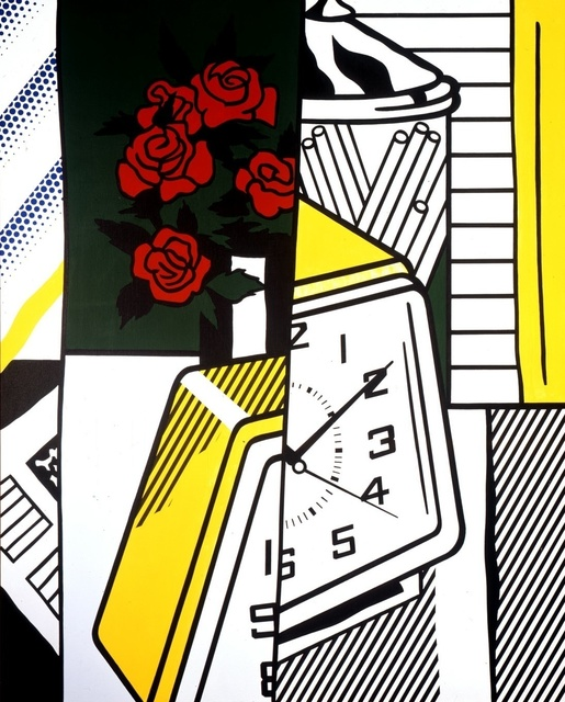 Roy Lichtenstein, 'Still Life with Clock and Roses', 1975, Gagosian