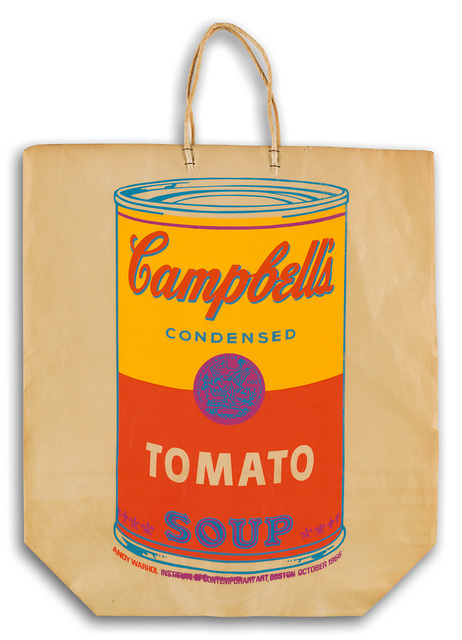 Andy Warhol, 'Warhol Campbell's Soup Can on a Shopping Bag', 1966, Posters, Paper bag and screenprint ink, Lot 180