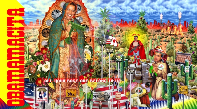 Kenneth Tin-Kin Hung, 'Guadalupe - Obamacita!', 2009, Postmasters Gallery