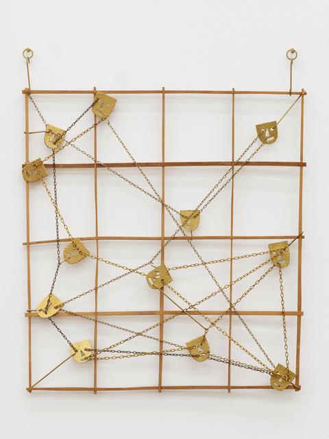 Will Rogan, 'Squad', 2016, Sculpture, Mahogany, brass, clock chain, Altman Siegel