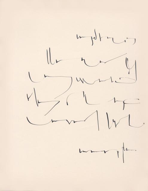 , 'Sin título (Carta),' ca. 1970, Henrique Faria | Buenos Aires