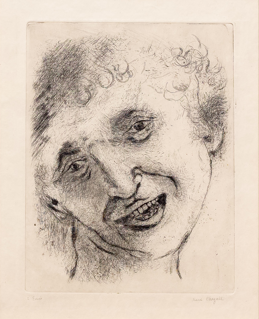 , 'Self Portrait with a Laughing Expression,' 1924-1925, Leslie Sacks Gallery