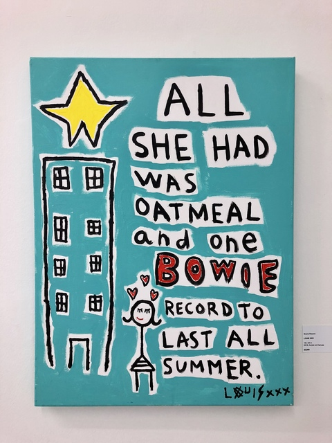 , 'Bowie Record,' 2018, Bruce Lurie Gallery