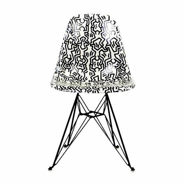 Keith Haring, 'Fiberglass Side Shell Eiffel Chair (Figures)', 2016-2019, Artware Editions
