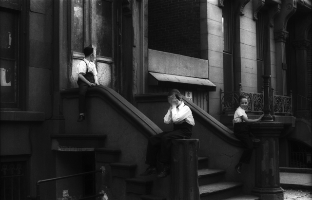 , 'Untitled (Satmar Boys in Front of 550 Bedford Avenue, Brooklyn),' 1963-1964, L. Parker Stephenson Photographs