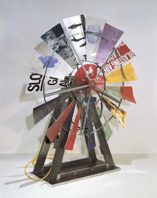 Robert Rauschenberg, 'Eco-Echo I', 1992–93, Acrylic and silkscreened acrylic on aluminum and Lexan with sonar-activated motor, Robert Rauschenberg Foundation