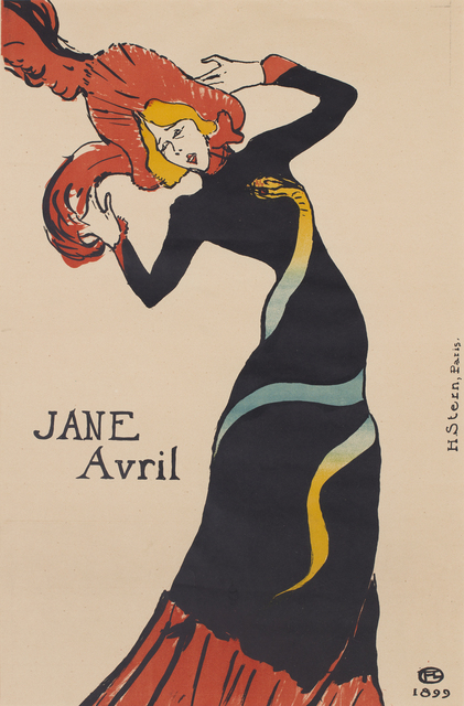 , 'Jane Avril,' 1889, CFHILL